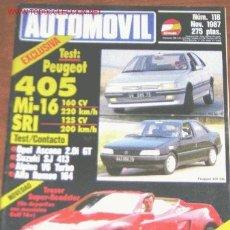 Coches: AUTOMOVIL Nº 118 - NOVIEMBRE 1987. Lote 22915577