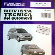 Coches: OPEL CORSA 93 - MANUAL DE TALLER - REVISTA TECNICA DEL AUTOMOVIL -Nº 21 NOV. 1994. Lote 26764034