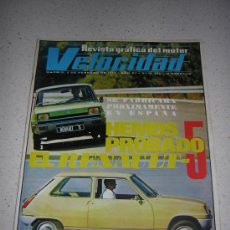 Coches: VELOCIDAD Nº 543 - FEB 1972 - POSTER RENAULT TORPEDO 1923 / RENAULT 5. Lote 18257510