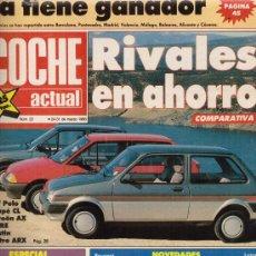 Coches: REVISTA COCHE ACTUAL 1988: FORD SIERRA COSWORTH; OPEL OMEGA 3000; OPEL SENATOR; AUSTIN METRO; ETC.... Lote 11435905