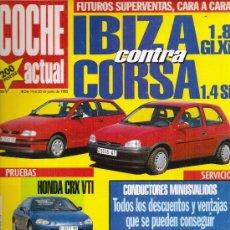 Coches: REVISTA COCHE ACTUAL 1993: HONDA CRX VTI; RENAULT SAFRANE RT; OPEL CORSA; ETC.... Lote 11441187