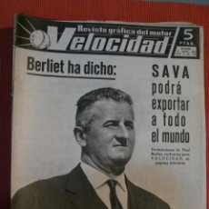 Coches: VELOCIDAD Nº 159 (26 SEPTIEMBRE 1964) SAVA BERLIET, CHEVROLET, RENAULT 8 GORDINI. Lote 26945399