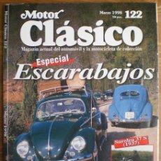 Coches: MOTOR CLÁSICO Nº 122. MARZO DE 1998. ESPECIAL: VW ESCARABAJO.. Lote 15110993