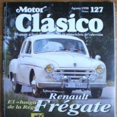 Coches: MOTOR CLÁSICO Nº 127. AGOSTO DE 1998. PRUEBA: RENAULT FRÉGATE. ESPECIAL: 100 AÑOS MICHELIN.. Lote 15069061