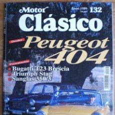 Coches: MOTOR CLÁSICO Nº 132. ENERO DE 1999. DOSSIER: PEUGEOT 404. PRUEBA: SANGLAS 350/3.. Lote 15069066