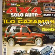 Coches: REVISTA SOLO AUTO 4X4 2001: MITSUBISHI MONTERO; TOYOTA LAND CRUISER; PATROL GR; LEXUS RX300; ETC... . Lote 12315963