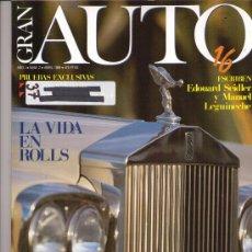 Coches: REVISTA GRAN AUTO 16 1989: ROLLS ROYCE CORNICHE; MASERATI KARIF; ALFA ROMEO 164; MITSUBISHI MONTERO. Lote 25124856