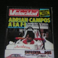 Coches: VELOCIDAD - Nº 1319 - ENE 1987 - PEUGEOT 205 / PEUGEOT 309 / ADRIAN CAMPOS F1. Lote 13024656