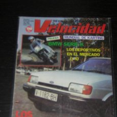 Coches: VELOCIDAD - Nº 1150 - OCT 1983 - BMW SERIE K / FORD FIESTA / KARTING. Lote 13083646