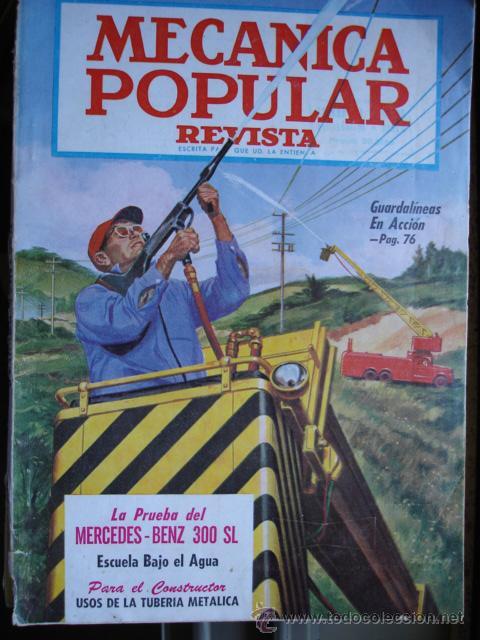 MECANICA POPULAR.MARZO 1956.MERCEDES BENZ 300SL (Coches y Motocicletas Antiguas y Clásicas - Revistas de Coches)