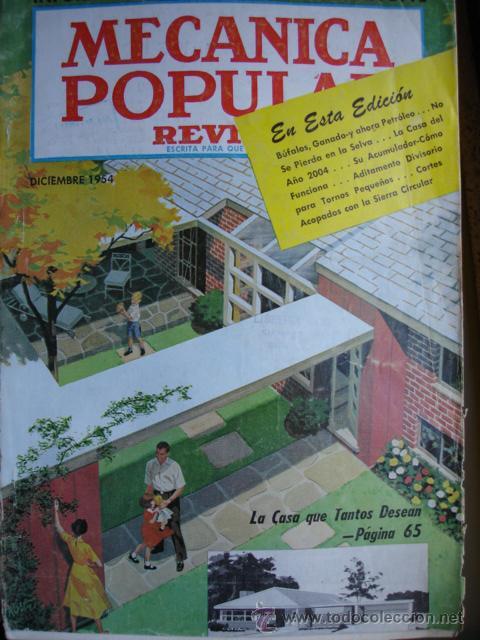 MECANICA POPULAR.DICIEMBRE 1954.CORVETTE (Coches y Motocicletas Antiguas y Clásicas - Revistas de Coches)
