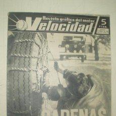 Carros: VELOCIDAD - REVISTA GRAFICA DEL MOTOR 9-2-1963 NUMERO 74. Lote 14378600