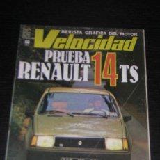 Coches: VELOCIDAD Nº 935 - AGO 1979 - RENAULT 14 TS / GP ALEMANIA FORMULA 1. Lote 15407301