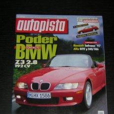Carros: AUTOPISTA Nº 1950 - NOV 1996 - BMW Z3 2.8 / OPEL VECTRA TD / CITROEN XANTIA / PEUGEOT 406 / CARISMA. Lote 181026798