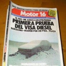 Carros: REVISTA MOTOR 16 - AÑOS 80 Y 90 - VER NUMEROS. Lote 57791686