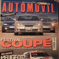 Coches: REVISTA AUTOMOVIL - NUM 290 HYUNDAI COUPE PEUGEOT 206 WRC TOYOTA CELICA SPORT. Lote 16297601