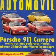 Carros: AUTOMOVIL 193 FEB 1993 FIAT PUNTO GT BMW 325 TDS PORSCHE 911 CARRERA VIPER RT10 FERRARI 348 GTB. Lote 17869921