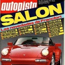 Coches: REVISTA AUTOPISTA Nº 1469 AÑO 1987. PRU: FIAT UNO 60 DS.COMP: FIAT CROMA 2.0 IE Y MAZDA 626 2.0 GT.. Lote 47643565