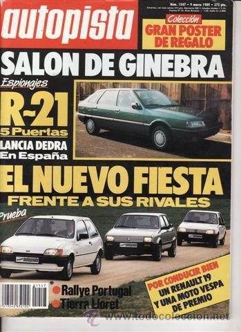 REVISTA AUTOPISTA Nº 1547 AÑO 1989. PRU: FORD FIESTA 1.4 CLX.OPEL OMEGA 2.3 TD.COMP: FORD FIESTA 1.1 (Coches y Motocicletas Antiguas y Clásicas - Revistas de Coches)