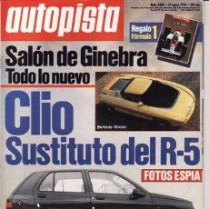 Coches: REVISTA AUTOPISTA Nº 1600 AÑO 1990. PRUEBA: ALFA ROMEO 33 1.7 I.E. MERCEDES 190 2.6 SPORT LINE.. Lote 46940291