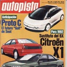 Coches: REVISTA AUTOPISTA Nº 1622 AÑO 1990.. Lote 25480998