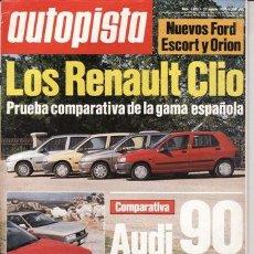 Coches: REVISTA AUTOPISTA Nº 1623 AÑO 1990. COMPARATIVA: AUDI 90 SPORT E Y AUDI 90 QUATTRO.. Lote 25481014
