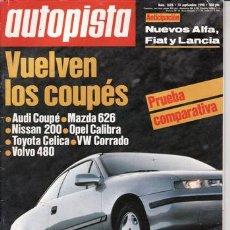 Coches: REVISTA AUTOPISTA Nº 1626 AÑO 1990. . Lote 25522952