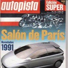 Coches: REVISTA AUTOPISTA Nº 1629 AÑO 1990. PRU: VW POLO COUPE FOX BUGATTI 110. FORD ORION 106.AUDI COUPE S2. Lote 25522969