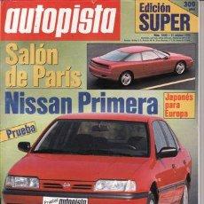 Coches: REVISTA AUTOPISTA Nº 1630 AÑO 1990. PRUEBA: NISSAN PRIMERA.. Lote 25522985