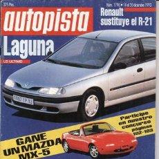 Coches: REVISTA AUTOPISTA Nº 1796 AÑO 1993. PRUEBA: MERCEDES S 350 TURBODIESEL. COMP: PEUGEOT 306 XTDT 1.9. Lote 109464766