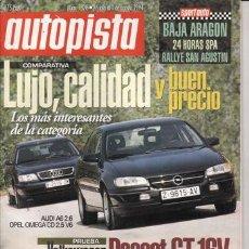 Coches: REVISTA AUTOPISTA Nº 1828 AÑO 1994. PRU: VW PASSAT GT 16 V. COMP:AUDI A 6 2.6 Y OPEL OMEGA CD 2.5 V6. Lote 26025318