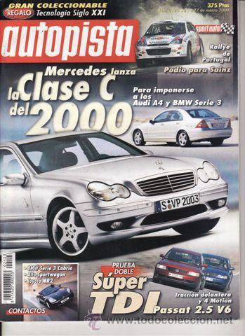 REVITA AUTOPISTA Nº 2123 AÑO 2000. PRUEBA: NISSAN PATHFINDER SE 3.3 V6. COMP: VW PASSAT TDI V6 Y (Coches y Motocicletas Antiguas y Clásicas - Revistas de Coches)