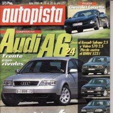 Coches: REVISTA AUTOPISTA Nº 1984 AÑO 1997. PRU: CHEVROLET CORVETE. ROVER 216 CABRIOLET. RENAULT TWINGO WIND. Lote 26343482