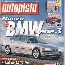 Coches: REVISTA AUTOPISTA Nº 2001 AÑO 1997. PRU: MERCEDES C220 CDI. AUDI A6 2.5 V6 TDI. MONTERO 2.8 TDI GLS. Lote 26365968