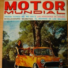 Coches: REVISTA AUTOMOVIL MOTOR MUNDIAL ABRIL 1972 NUMERO 332. Lote 19804740