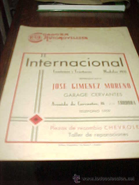 CORDOBA AUTOMOVILISTA. Nº 212. ABRIL 1933. INFORMACION Y PUBLICIDAD. + (Coches y Motocicletas Antiguas y Clásicas - Revistas de Coches)
