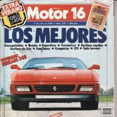 Coches: REVISTA MOTOR 16 Nº 295 AÑO 1989. PRUEBA: HARLEY DAVIDSON DPORTSTER 883. . Lote 26866011