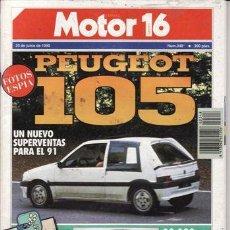 Coches: REVISTA MOTOR 16 Nº 348 AÑO 1990. PRUEBA: OPEL VECTRA VECTRA GT. ALFA 75 1.6 I.E. SAAB 2.3 16V.. Lote 207126263