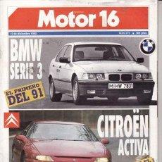Coches: REVISTA MOTOR 16 Nº 373 AÑO 1990. PRU: VOLVO 960 24V. COMP: LANCIA DEDRA INTEGRALE Y LANCIA DEDRA T.. Lote 27283948