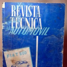 Coches: REVISTA TECNICA DEL AUTOMOVIL, FIAT 600 Y MULTIPLA, 1960S. Lote 20724399