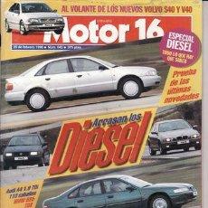 Coches: REVISTA MOTOR 16 Nº 645 AÑO 1996. PRUEBA: TOYOTA PASEO. HONDA ACCORD TDI. AUDI A4 TDI. BMW 525 TDS.. Lote 20765392