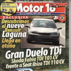 Carros: REVISTA MOTOR 16 Nº 875 AÑO 2000.PR:TOYOTA PREVIA 2.4.COMP:SKODA FABIA 1.9 TDI Y SEAT IBIZA 1.9 TDI.. Lote 20789638