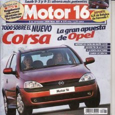Coches: REVISTA MOTOR 16 Nº 881 AÑO 2000. . Lote 20805428