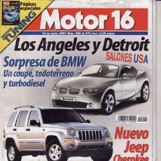 Coches: REVISTA MOTOR 16 Nº 900 AÑO 2001. PRU: AUDI A4 2.5 V6 TDI QUATTRO.NISSAN ALMERA TINO 2.0 CVT LUXURY.. Lote 20901758