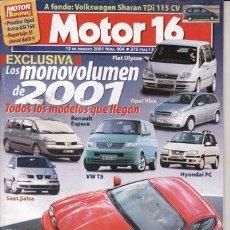 Coches: REVISTA MOTOR 16 Nº 904 AÑO 2001. PRU:SUZKUKI WAGON R +13 GL.COMP: NISSAN ALMERA TINO 2.0 CVT LUXURY. Lote 20901857