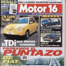 Coches: REVISTA MOTOR 16 Nº 822 AÑO 1999. PRUEBA: MASERATI 3200 GT. VOLVO C70 2.5 T CABRIO.. Lote 29795678