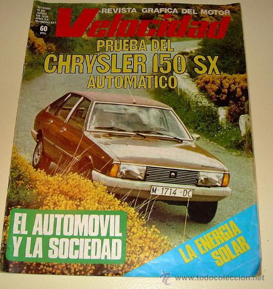 VELOCIDAD 927 DE 1979 (Coches y Motocicletas Antiguas y Clásicas - Revistas de Coches)