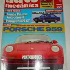 Coches: AUTO MECÁNICA 209 AGOSTO 1987 . Lote 27079006