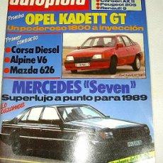 Coches: AUTOPISTA 1.475 - OCTUBRE 1987. Lote 24226303