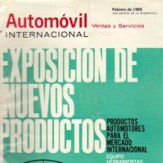 Coches: LOTE DE 27 EJ.DE AUTOMOVIL INTERNACIONAL,UNA REVISTA DE MCGRAW-HILL AÑOS 1965 A 1967 (VER DETALLE). Lote 27081988